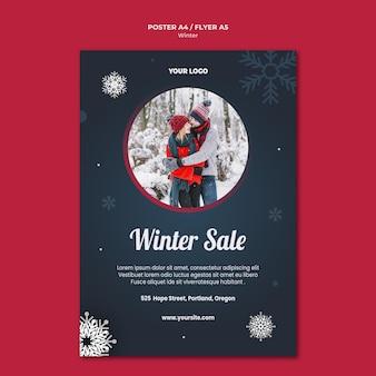 Szablon plakatu koncepcja zima