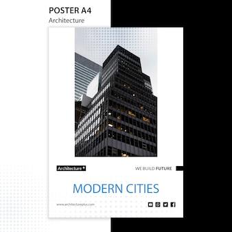 Szablon plakatu koncepcji arhitektury