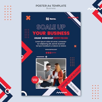 Szablon plakatu koncepcji biznesowej