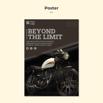 Szablon plakatu koncepcji jeźdźca