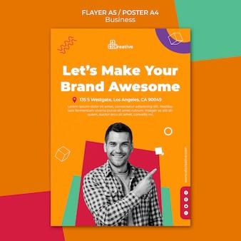 Szablon plakatu koncepcji marki