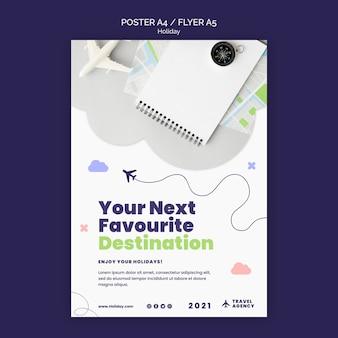 Szablon plakatu koncepcji podróży
