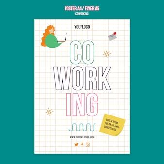 Szablon plakatu koncepcji pracy zespołowej