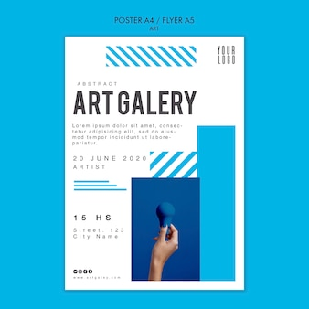 Szablon plakatu koncepcji sztuki