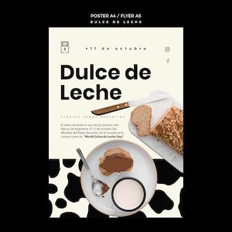Szablon plakatu koncepcyjnego dulce de leche