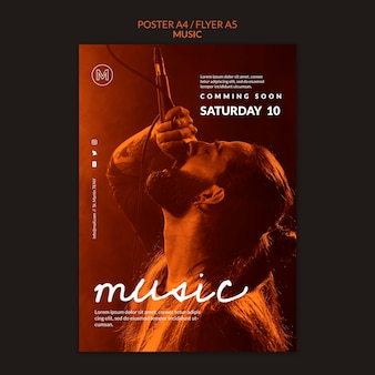 Szablon plakatu koncertu muzycznego