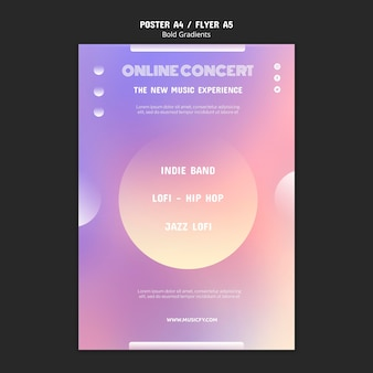 Szablon plakatu koncertu online