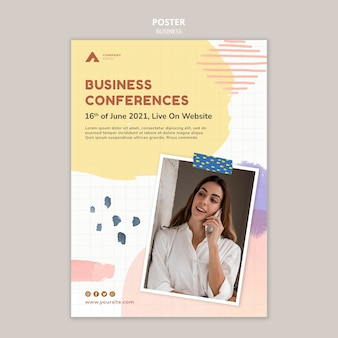 Szablon plakatu konferencji biznesowych