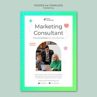 Szablon plakatu konsultanta ds. marketingu