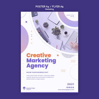 Szablon plakatu kreatywnego marketingu