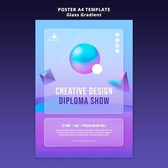 Szablon plakatu kreatywnego projektu