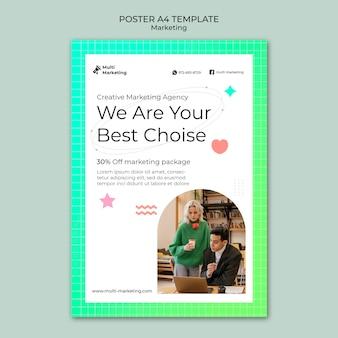Szablon plakatu kreatywnej agencji marketingowej