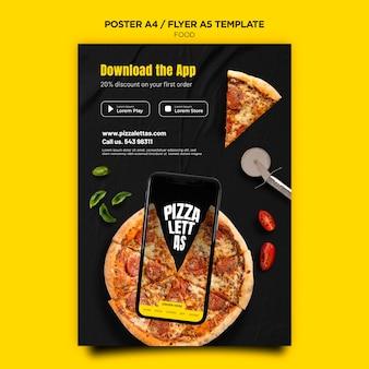 Szablon plakatu kuchni włoskiej