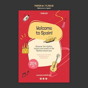 Szablon plakatu kultury hiszpanii