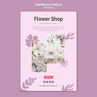 Szablon plakatu kwiaciarni