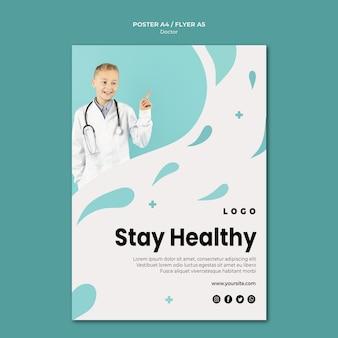 Szablon plakatu lekarza