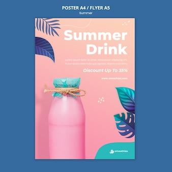 Szablon plakatu letniego smoothie