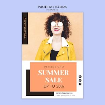 Szablon plakatu letniej sprzedaży