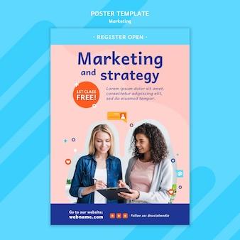 Szablon plakatu marketingowego ze zdjęciem