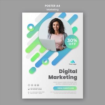 Szablon plakatu marketingu cyfrowego