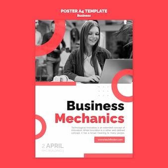 Szablon plakatu mechaniki biznesowej