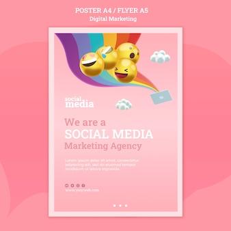 Szablon plakatu mediów społecznościowych