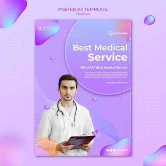 Szablon plakatu medycznego ze zdjęciem