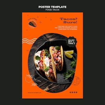 Szablon plakatu meksykańskiego jedzenia
