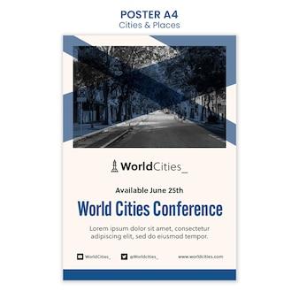 Szablon plakatu miast i miejsc