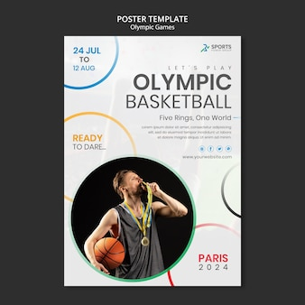 Szablon plakatu międzynarodowych zawodów sportowych