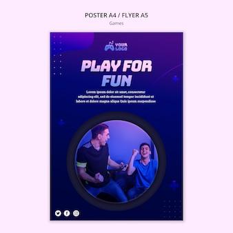 Szablon plakatu miejsca gry