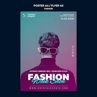 Szablon plakatu mody