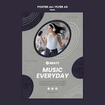 Szablon plakatu muzyki