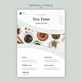 Szablon plakatu na aromatyczną herbatę ziołową