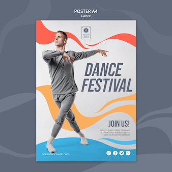 Szablon plakatu na festiwal tańca