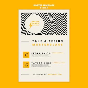 Szablon plakatu na kursy projektowania graficznego