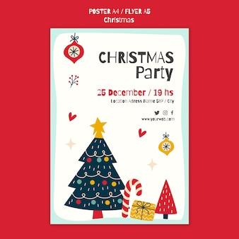 Szablon plakatu na przyjęcie bożonarodzeniowe