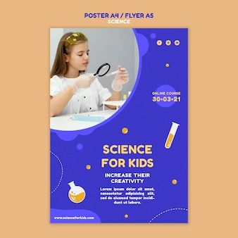 Szablon plakatu nauki