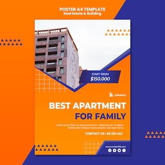 Szablon plakatu nieruchomości i budynku