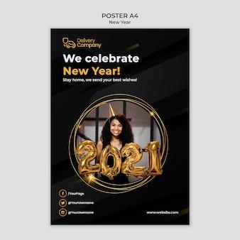 Szablon plakatu nowego roku