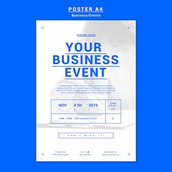 Szablon plakatu nowoczesnego biznesu