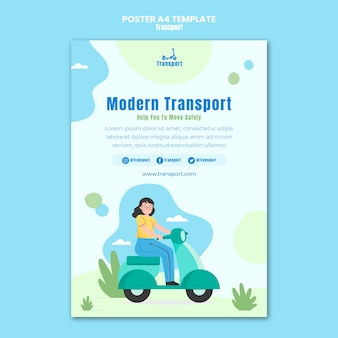 Szablon plakatu nowoczesnego transportu