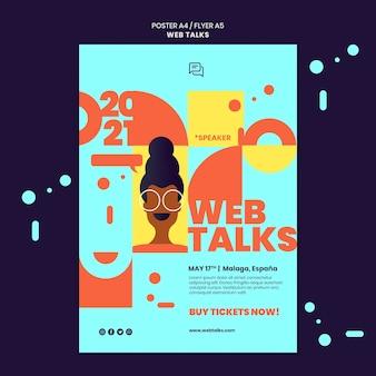 Szablon plakatu nowoczesnych rozmów internetowych