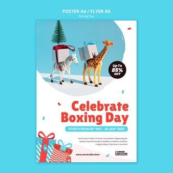 Szablon plakatu obchodów świąt bożego narodzenia