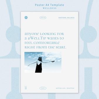 Szablon plakatu odnowy biologicznej ze zdjęciem