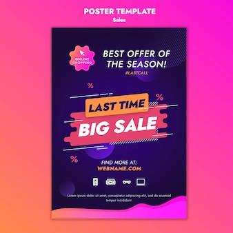 Szablon plakatu ofert sprzedaży