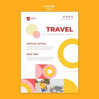 Szablon plakatu oferty podróży