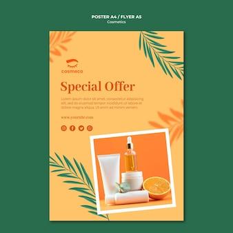 Szablon plakatu oferty specjalnej kosmetyków