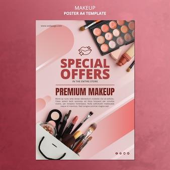 Szablon plakatu oferty specjalnej makijażu