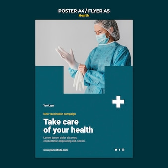 Szablon plakatu opieki zdrowotnej